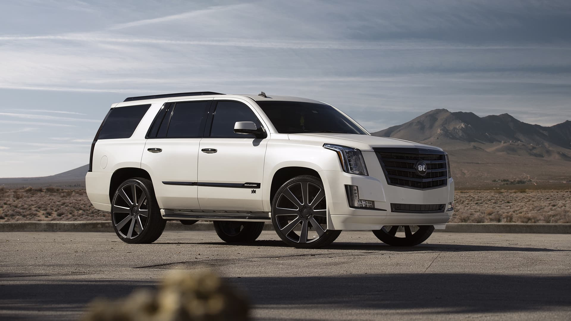 White Cadillac Escalade 1080p Wallpaper High Quality
